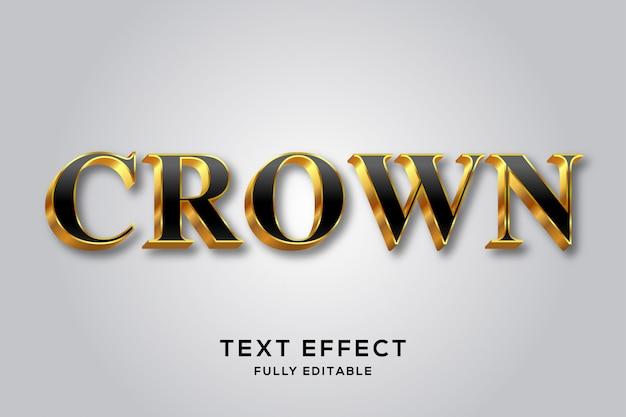 Королевский роскошный черно-золотой эффект 3d-текста Premium векторы