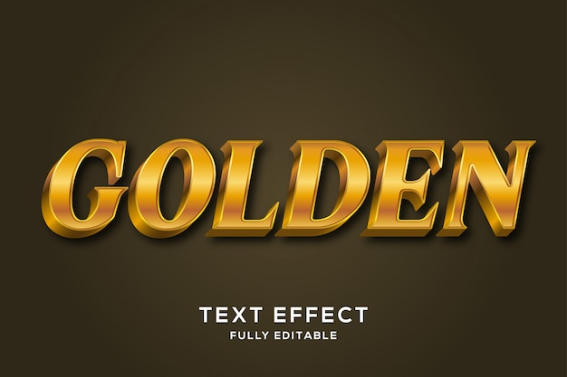 Royal luxury gold 3d text style effect Premium Vector