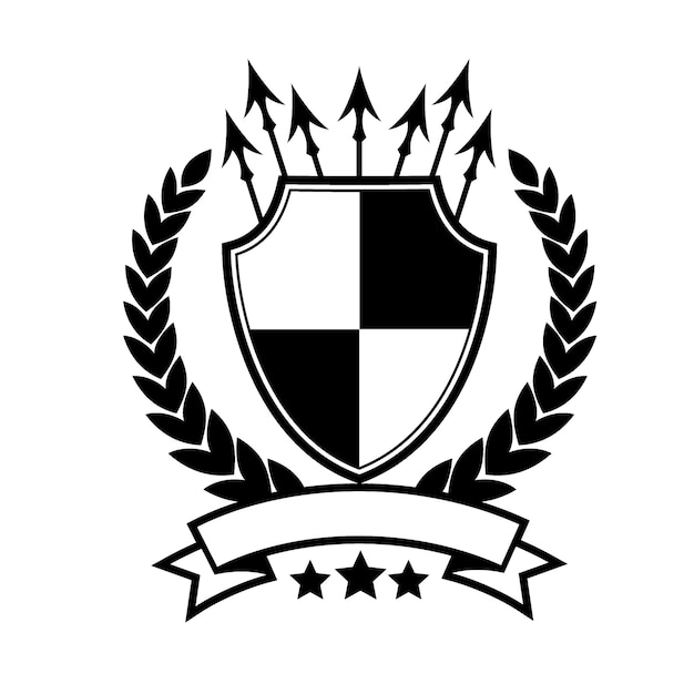 royal shield logo template vector