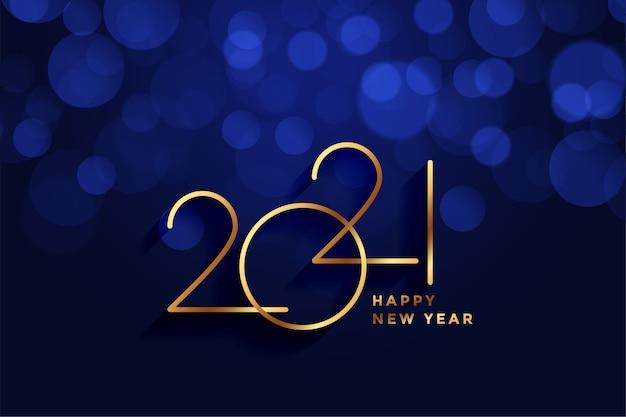Sfondo dorato di felice anno nuovo 2021 stile reale Vettore gratuito