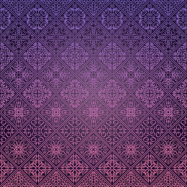 Royal Wallpaper Seamless Floral Pattern Luxury Background Premium Vector