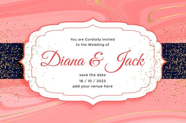 Приглашение на свадьбу royal с эффектом золотого блеска Бесплатные векторы