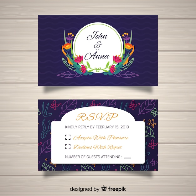 rsvp card template free
