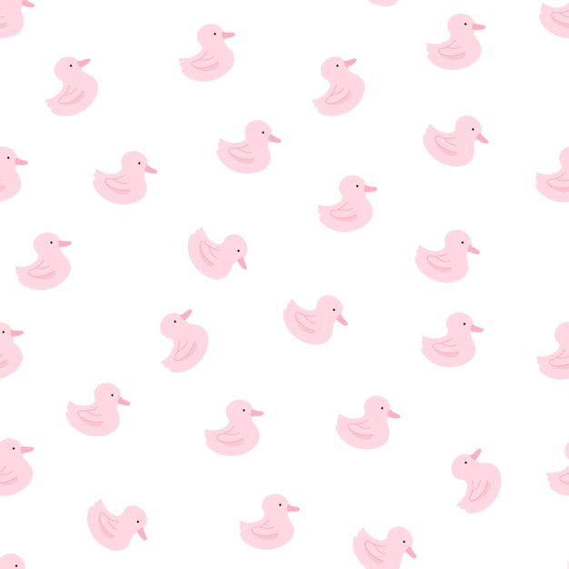 Rubber duck pattern Free Vector