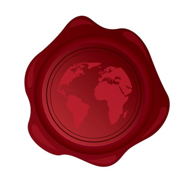 Rubber of world Premium Vector