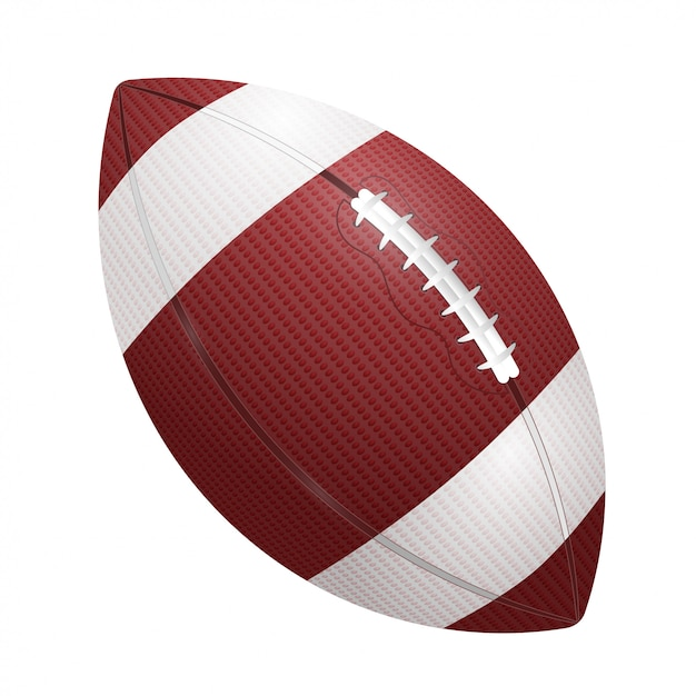Rugby ball Premium Vector