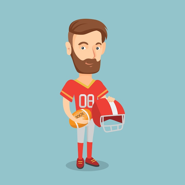 Rugby player vector illustration. Premium Vector