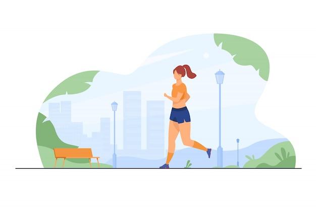 Runner training outdoors Free Vector