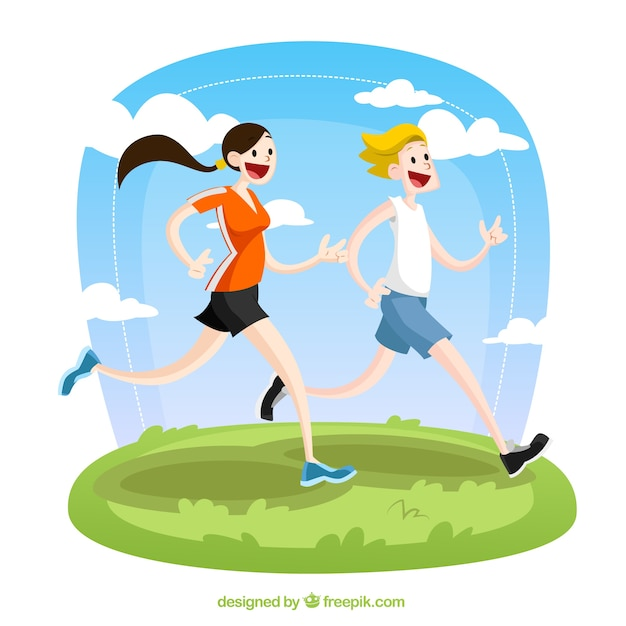 Runners illustration Free Vector
