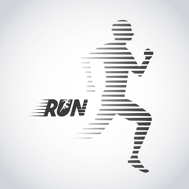 The running  design Premium Vector