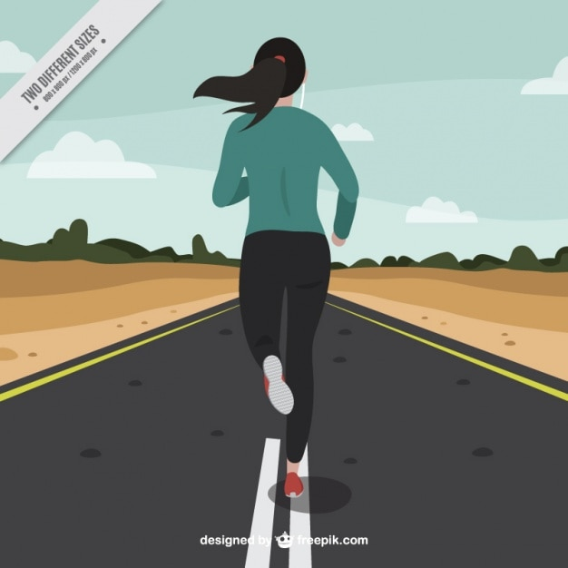 Running experience  Free Vector