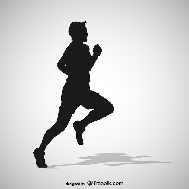Running man silhouette Vector | Free Download