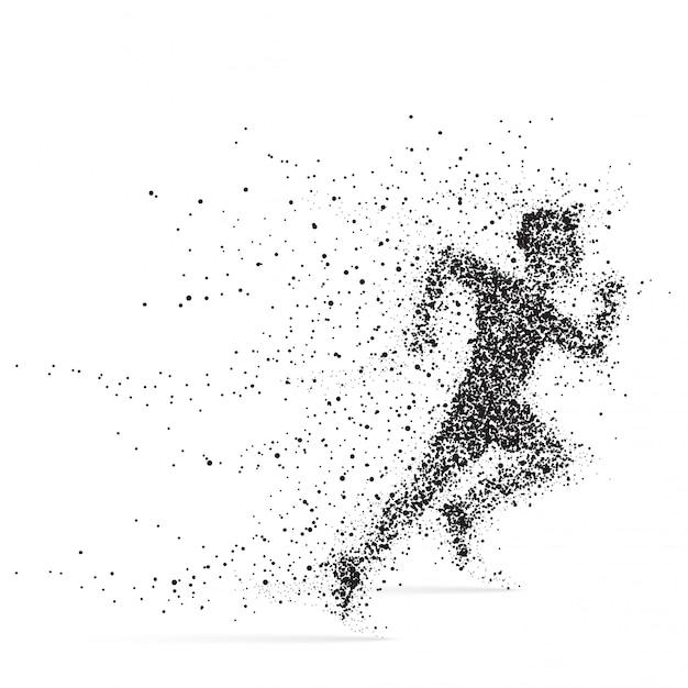 Running man. Premium Vector