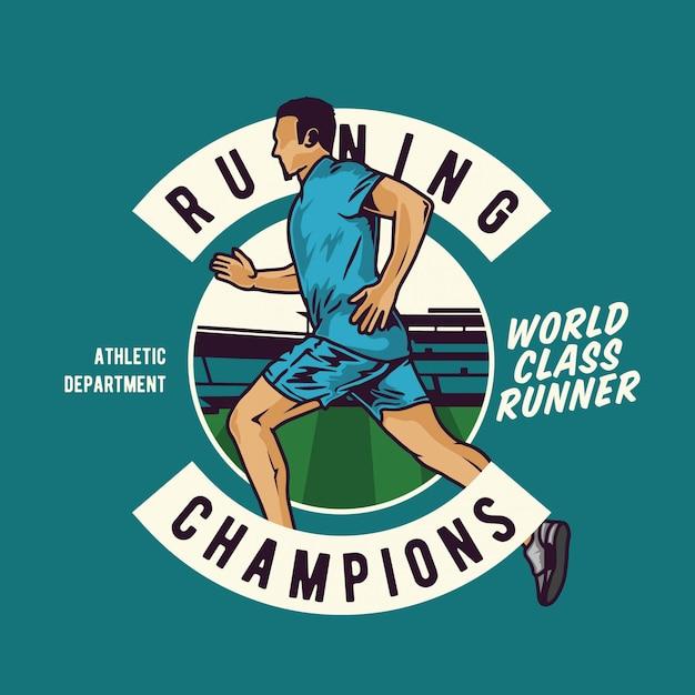Running man Premium Vector