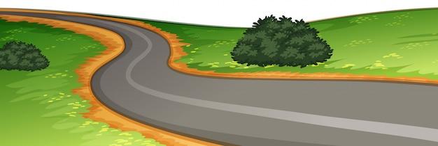 A rural road scene Free Vector