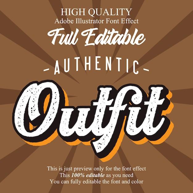 Rustic bold editable typography font effect Premium Vector