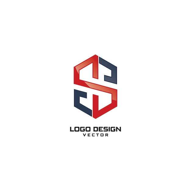S letter logo design vector Premium Vector