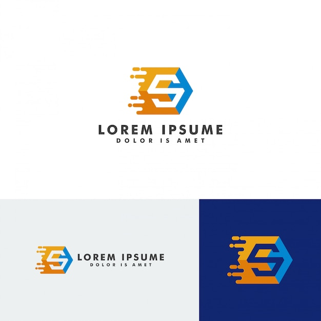 S letter logo  template element vector illustration Premium Vector