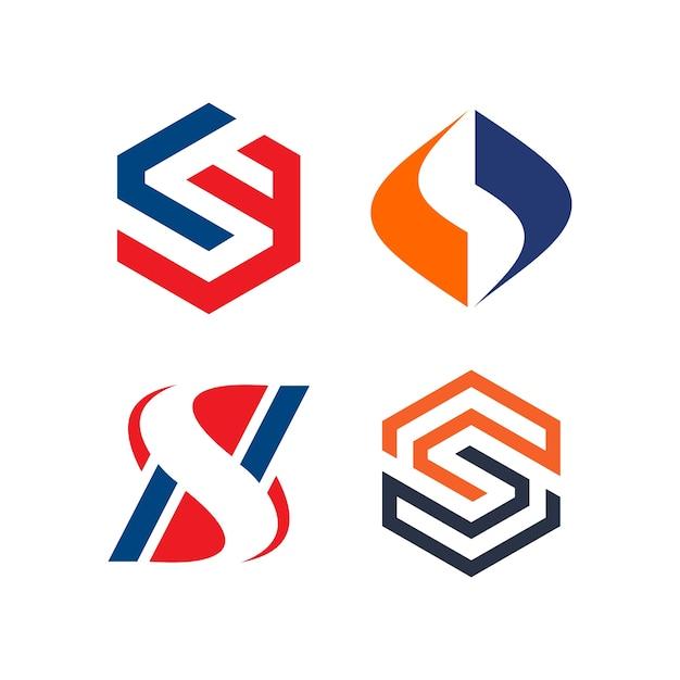 S Letter Logo Template Premium Vector