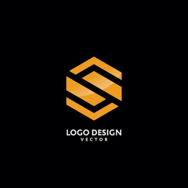 S Letter In Monogram Logo Design