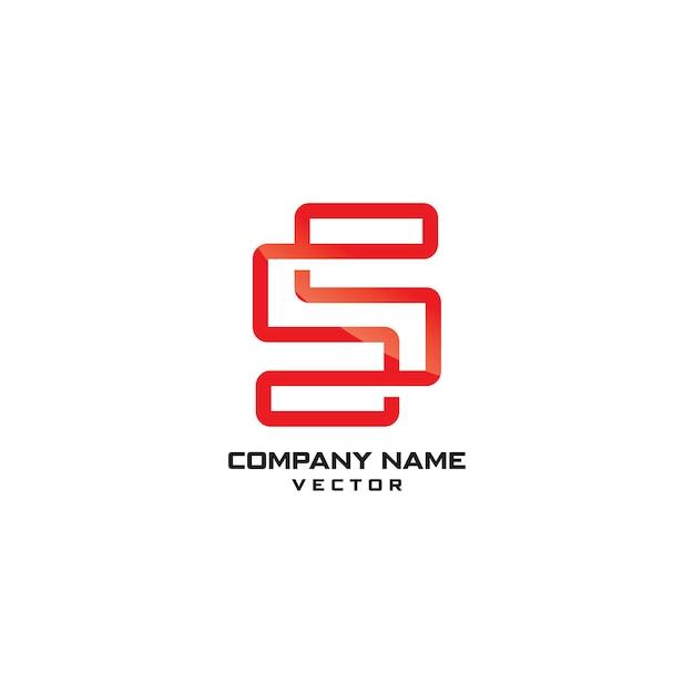 ラインアートsシンボル会社ロゴテンプレート Premiumベクター