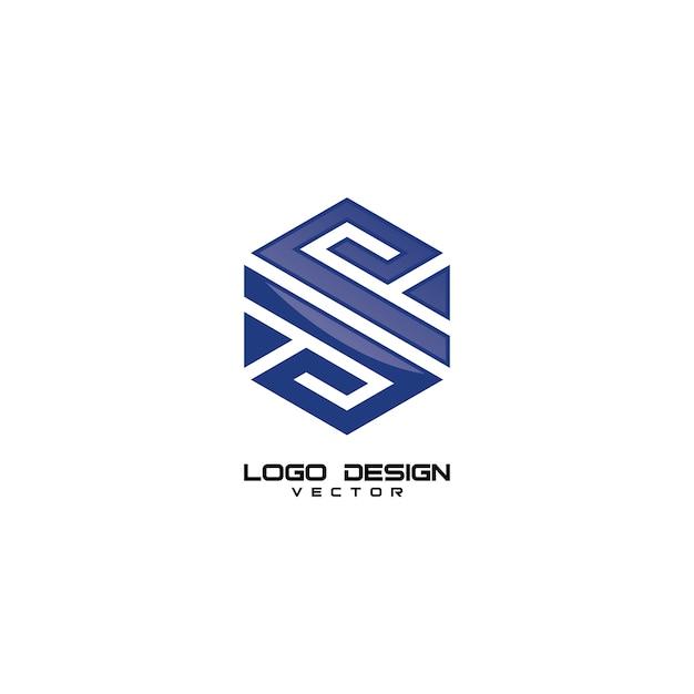 Sレタージオメトリロゴデザイン Premiumベクター