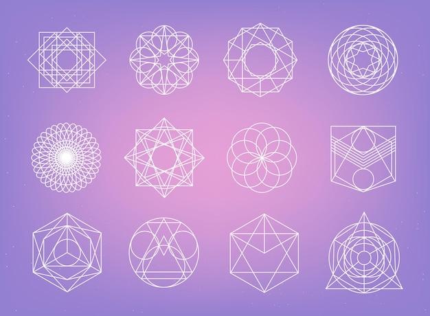 神聖幾何学シンボルコレクション Premiumベクター