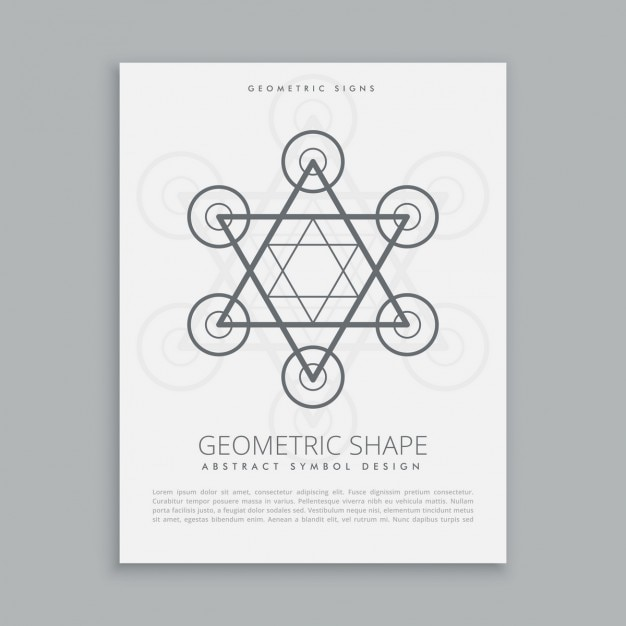 Sacred star poster Free Vector