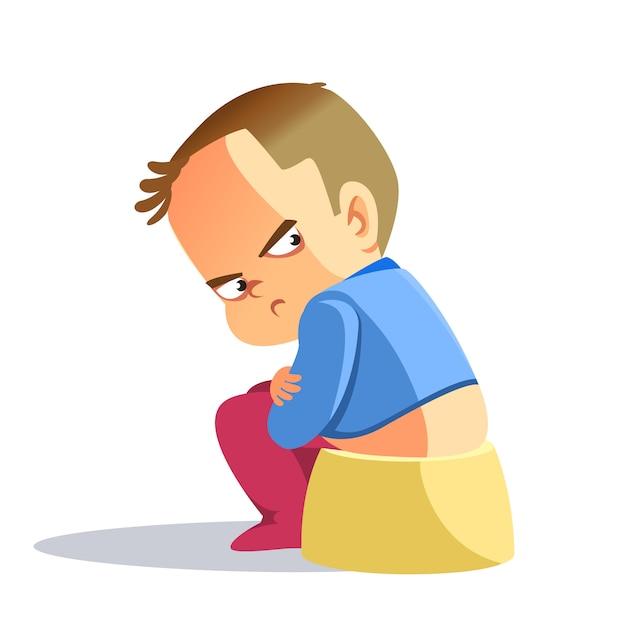 Sad boy, depressed boy looking lonely. Premium Vector