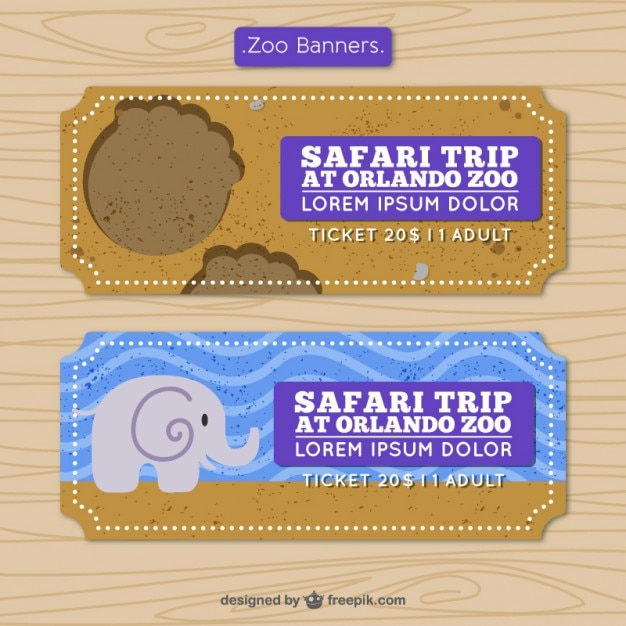 Safari banners in flat design