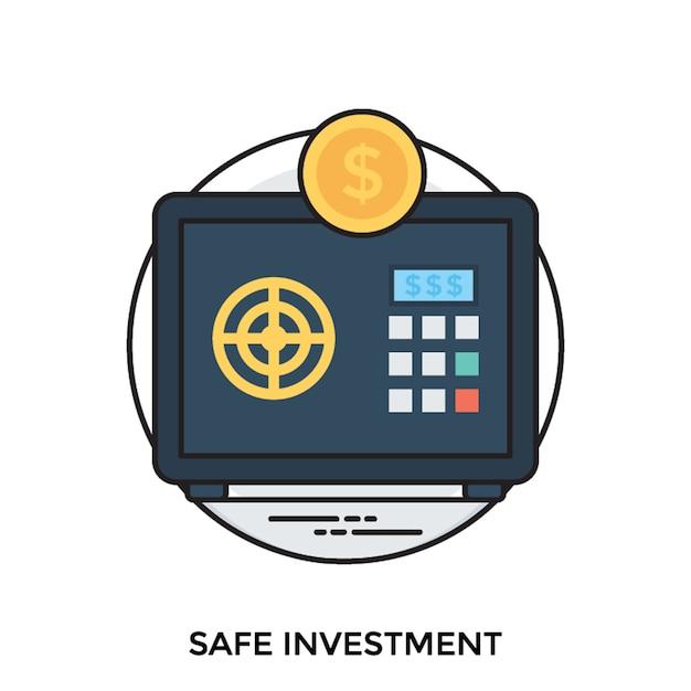 Safe investment Premium Vector