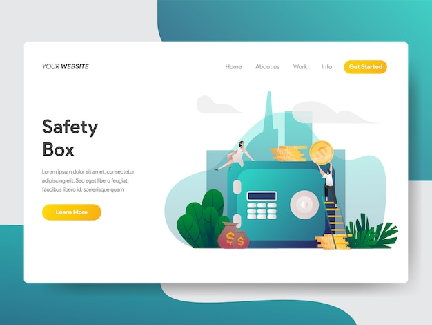 Safety box for website page Premium Vector