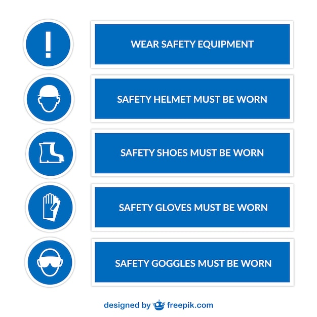 Safety Signs Vector Free Download