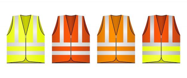 Safety vest   design illustration isolated Premium Vector