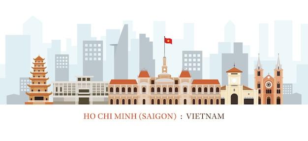 Ảnh vector Sài Gòn hoặc thành phố Hồ Chí Minh các địa danh