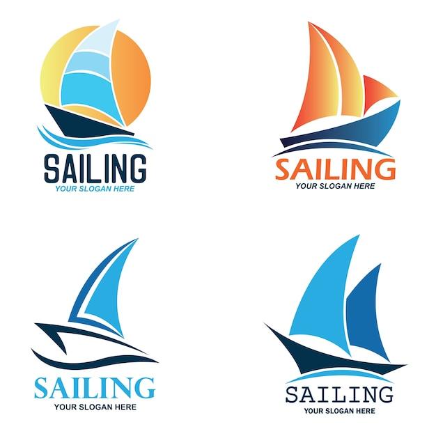 Sailing logo Premium Vector