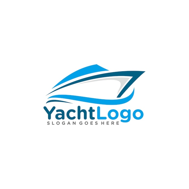 Sailing, yacht logo template Vector | Premium Download