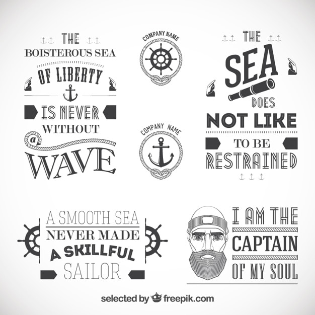 Sailor badges Free Vector