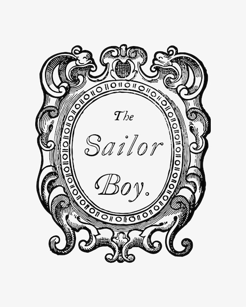The sailor boy vintage drawing Free Vector