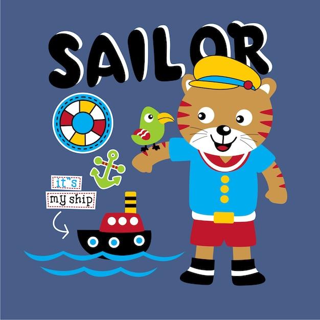 Sailorman Premium Vector