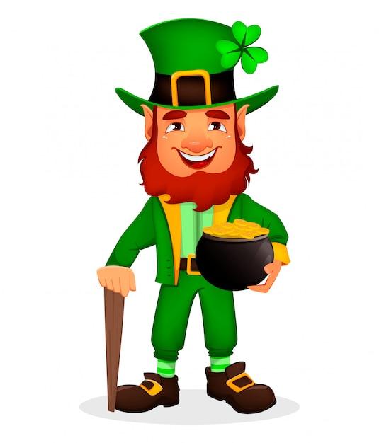 Saint patrick day. cartoon character leprechaun Vector ...