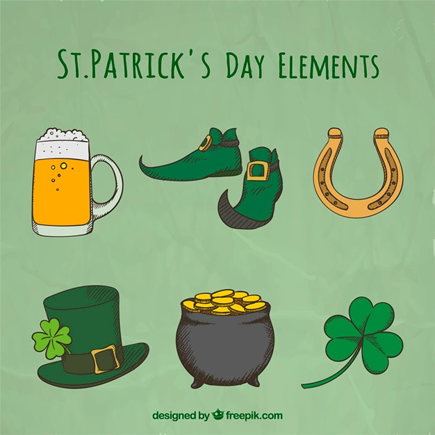 Free Vector Saint Patrick Day Elements Collection