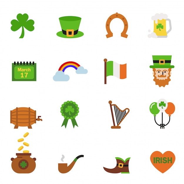 Saint patrick day holiday traditions concept Premium Vector