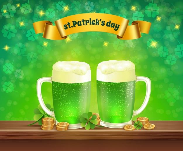 Saint patrick's day beer illustration Free Vector