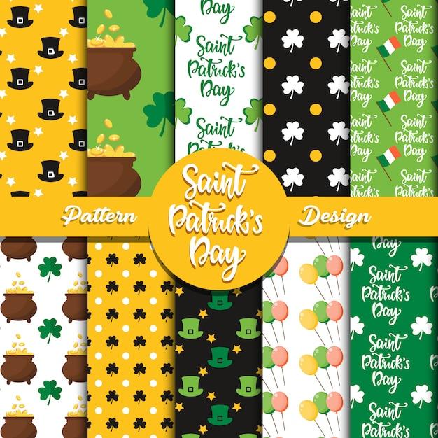 Saint patrick's day pattern design Premium Vector