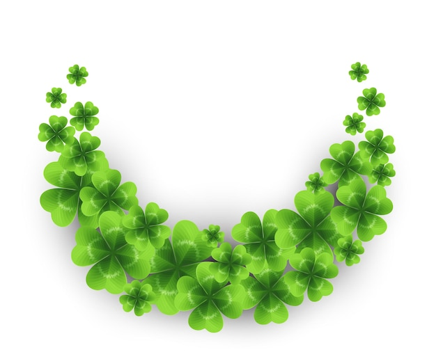 Saint patricks day background with sprayed clover leaves or shamrocks.  illustration Premium Vector