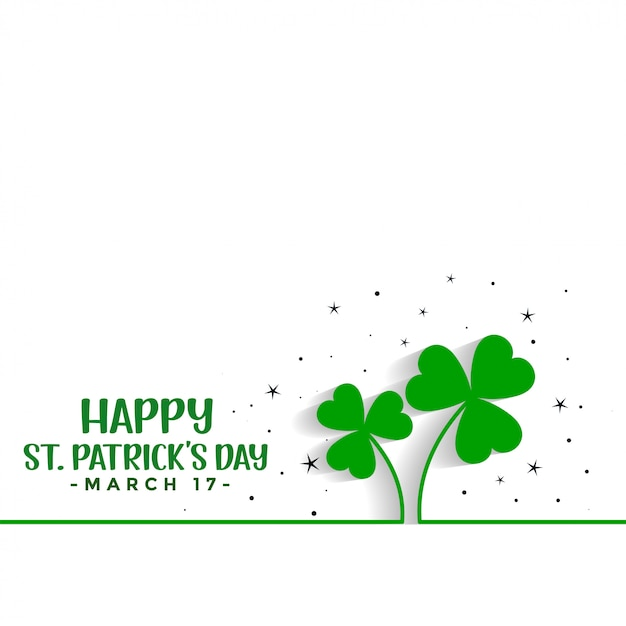 Saint patricks day clover leaves background Free Vector