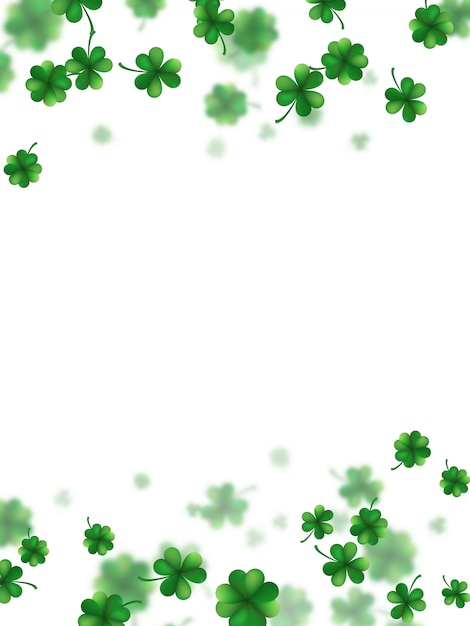 Saint patricks day frame. Premium Vector