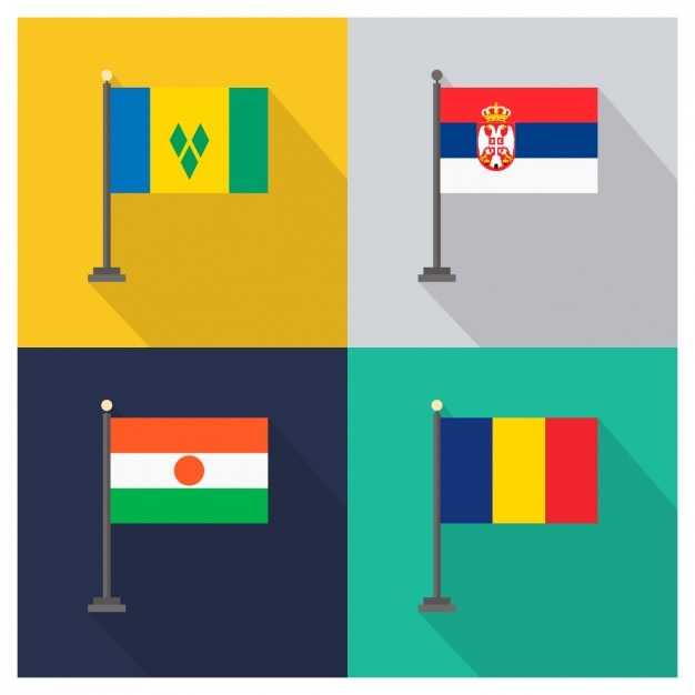 Saint vincent and the grenadines serbia niger and chad Free Vector