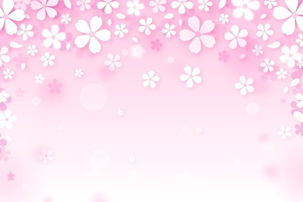Sakura sfondo sfumato Vettore gratuito